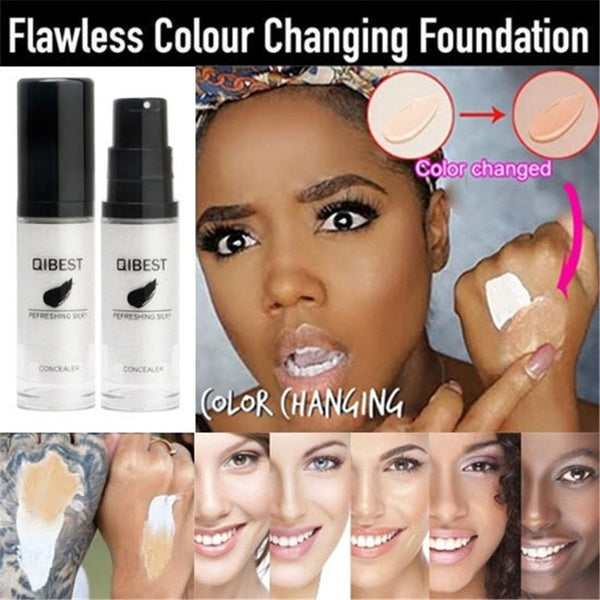 15g Color Changing Foundation Makeup Base Nude Face Liquid Cover Concealer Change To Your Skin Tone Waterproof