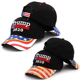 New President Donald Trump 2020 Usa Flag Baseball Cap Hat Make America Great Cotton Snapback Hats For Women Men