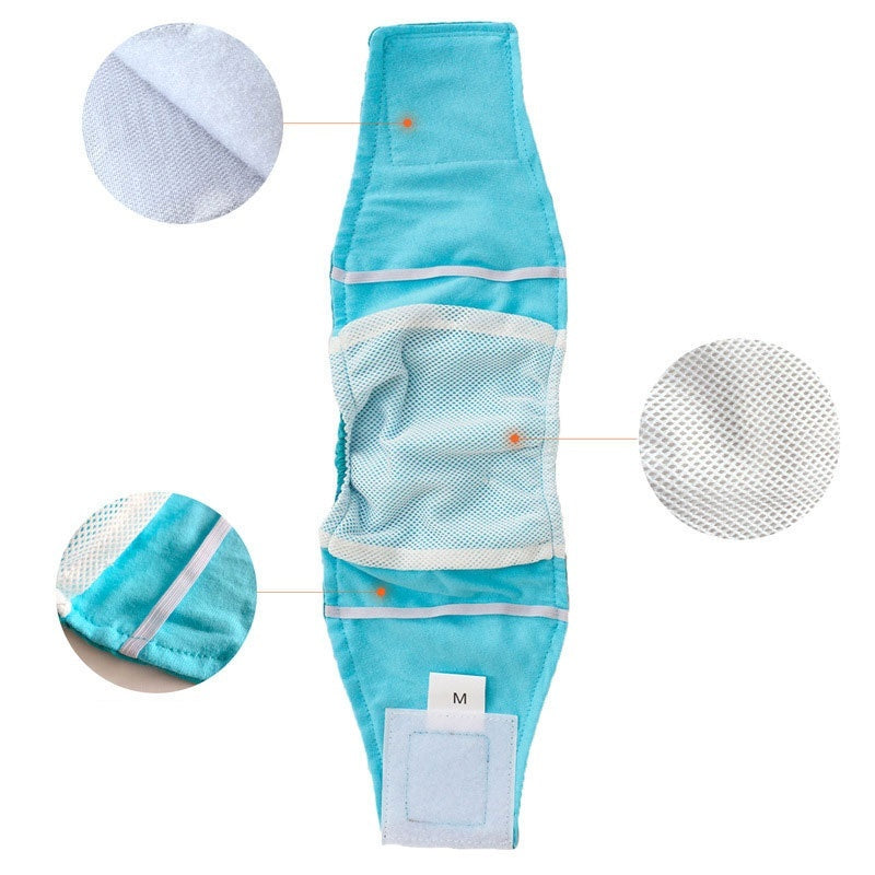 S-XL Washable  Dog Diapers Pet Dog Belly Wrap Puppy Diapers Pet Accessories