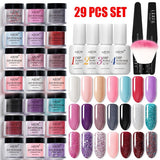 23/29 PCS  Nail Dipping Powder Set without Cure Manicure Dip Powder Dipping Nail Polish Nail Tool Kit