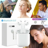 i12 TWS Wireless Bluetooth 5.0 Earphone Touch Control With Charging Box