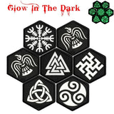 Viking Embroidery Patch Armband Glow In The Dark Badge Military Tactical Morale Decorative Leaf Snow Patches Sewing Applique Embellishment