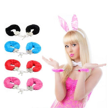 Load image into Gallery viewer, Fashion Fluffy Handcuffs Hand Cuffs Toy Hens Night Police Costume Party Supplies