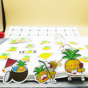 20/40pcs Self-adhesive Funny Pineapple Fruit Scrapbook Paper Sticker DIY Craft Photo Album Decoration Diary