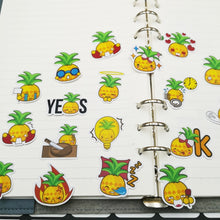 Load image into Gallery viewer, 20/40pcs Self-adhesive Funny Pineapple Fruit Scrapbook Paper Sticker DIY Craft Photo Album Decoration Diary
