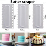 Cake Decorating cream Smoother Cake Scraper Pastry Textures Baking Tools  Cake decorative scraper