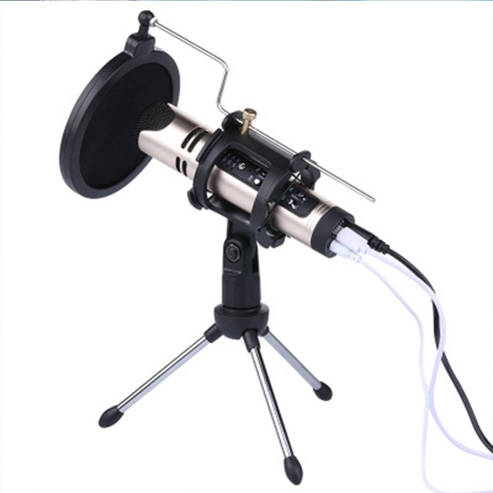 2019 new Black Microphone Filter Holder Stick Desktop Tripod Stand Anti-Spray Net Kit