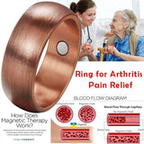 High Quality Copper Magnetic Ring  Men and Women Arthritis Pain Relief Ring