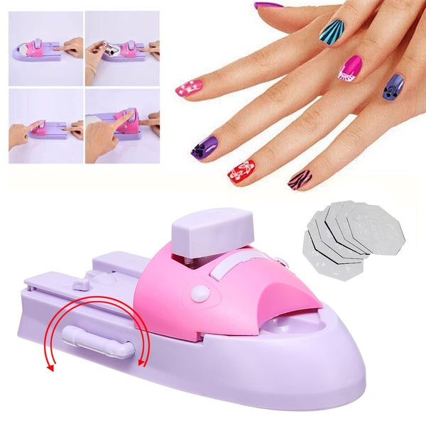 Nail Art DIY Printer Printing Pattern Stamp Manicure Machine Stamper