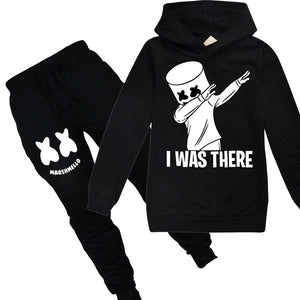 Kids Boys Girls child I Was There Long Sleeve Gamer Pullover Hoody Hoodie+Long Pants