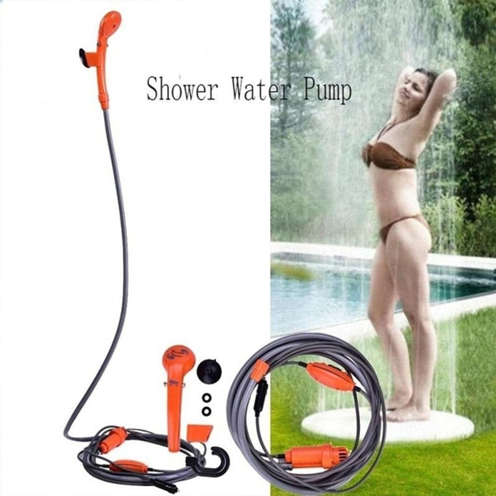 Camping Shower 12V Electric Outdoor Shower Kit For Travel Car Washing Camping Hiking Flowering Plants Watering