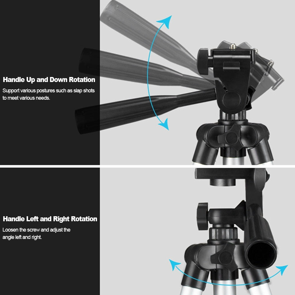 Multifunction Aluminum Alloy Tripod Portable 11-25.6inch Lightweight Travel Stand with Phone Holder for Projector Camera Tripod