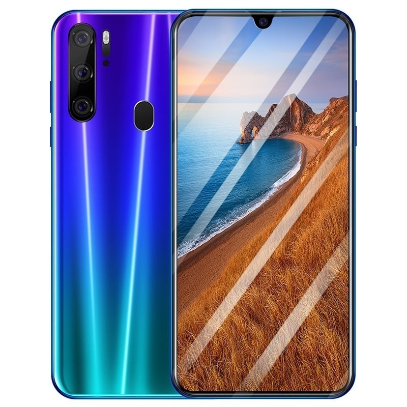 6.3 inch face recognition & fingerprint unlock 2k HD water drop screen smartphone 6G + 128G ten core large capacity memory support dual card dual standby Android 9.1