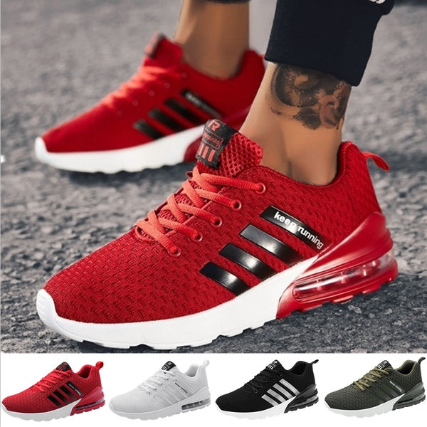 Men Air Cushion Running Shoes Outdoor Casual Mens Trainers Runners Sports Shoes Mesh Breathable Jogging Sneakers Hommes Baskets Plus Size