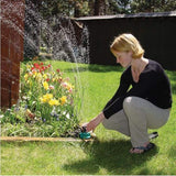 360 Degree Outdoor Adjustable Automatic Sprinkler Lawn Garden Irrigation System Point Nozzle