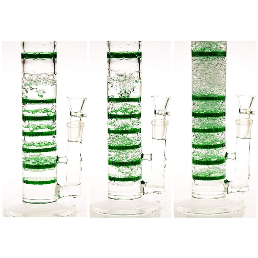 REANICE Beaker Glass Joint Pipes Bubblers for Smoking Recycler Tobacco Glass Water Recycler Hookah Pen