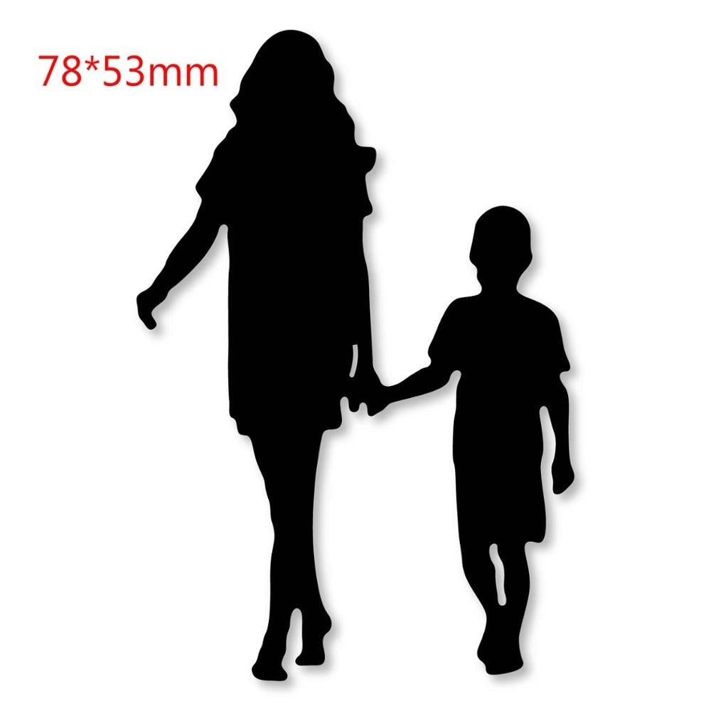 Family Members Metal Steel Cutting Dies Stencils for Scrapbooking Card Makin Etched Embossing Die Cuts