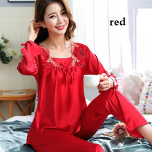 Load image into Gallery viewer, Summer Fashion Women Two Pieces Nightgown Soft Silk Casual Pajama Sets Sexy Sleepwear(6 Colors)