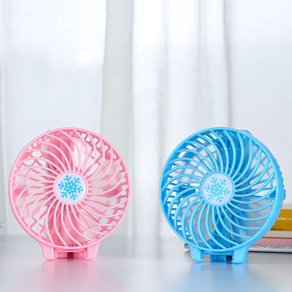 Foldable Hand Fans Battery Operated Rechargeable Handheld Mini Fan Electric Personal Fans Hand Bar Desktop Fan USB Gadgets