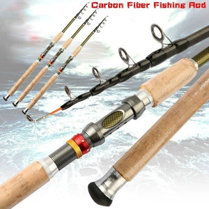 2.1m 2.4m 2.7m 3.0m 3.6m Carbon Fiber Fishing Rod Telescopic Fishing Pole Carp Feeder Spinning Rod
