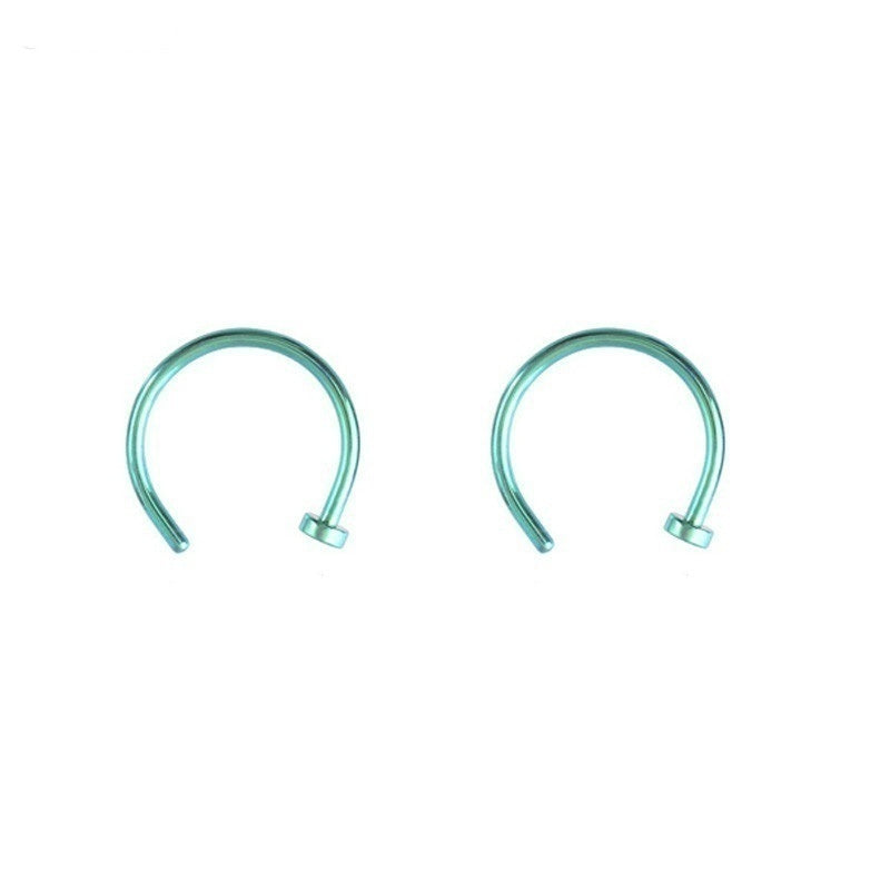 6pcs/lot Titanium Steel Fake Lip Ring C Clip Nose Ring Kylie Lip Piercing Falso Nose Rings Hoop Body Jewelry