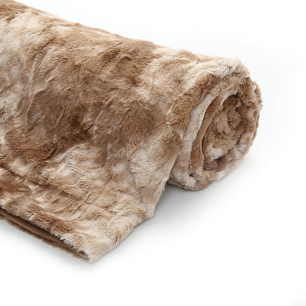 Super Soft Faux Fur Throw Blanket Fuzzy Light Weight Luxurious Cozy Warm Fluffy Plush Blanket 7 Colors (130x160cm/160x200cm)