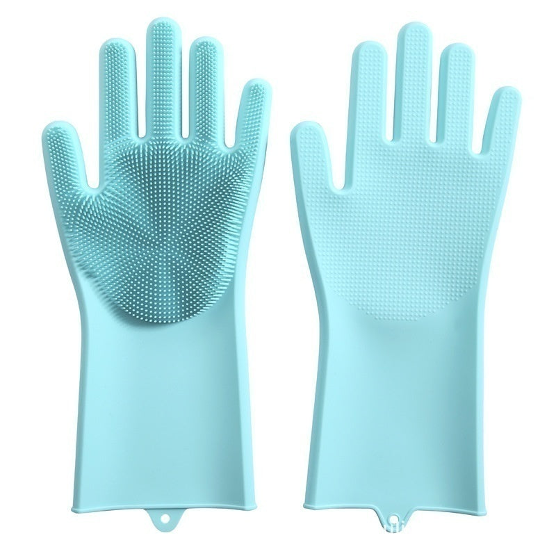 1 pair Silicone Dishwashing Gloves