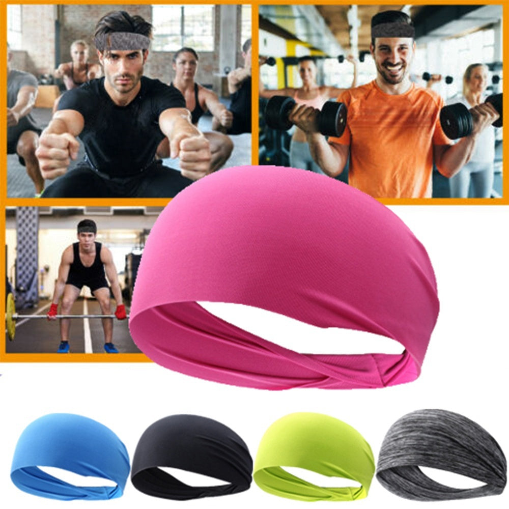 1PC Elastic Yoga Sports Headband Women Men Running Sports Hair Band Turban Outdoor Gym Exercise Sweatband