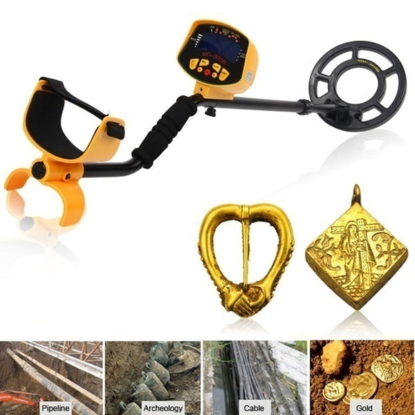 2 Style Metal Detector MD3030 Quick Shooter Lightweight Professional Detectors Underground Treasure Hunter LCD Display Gold and Jewelry Hunting Under Shallow Water