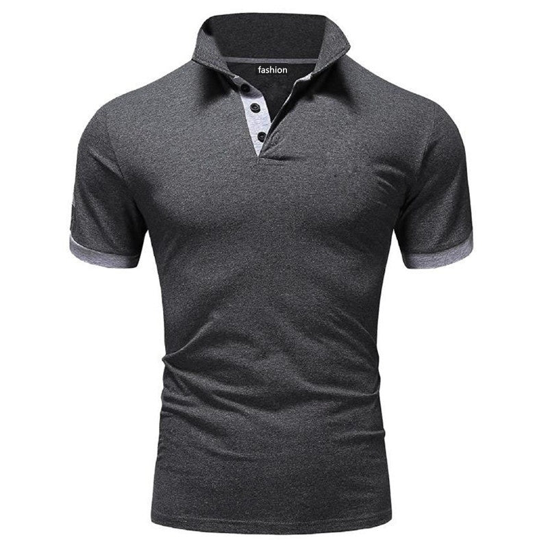 2019 Men's New Slim Fit T-shirt Fashion Short Sleeve Sport Business Summer Casual T-shirt