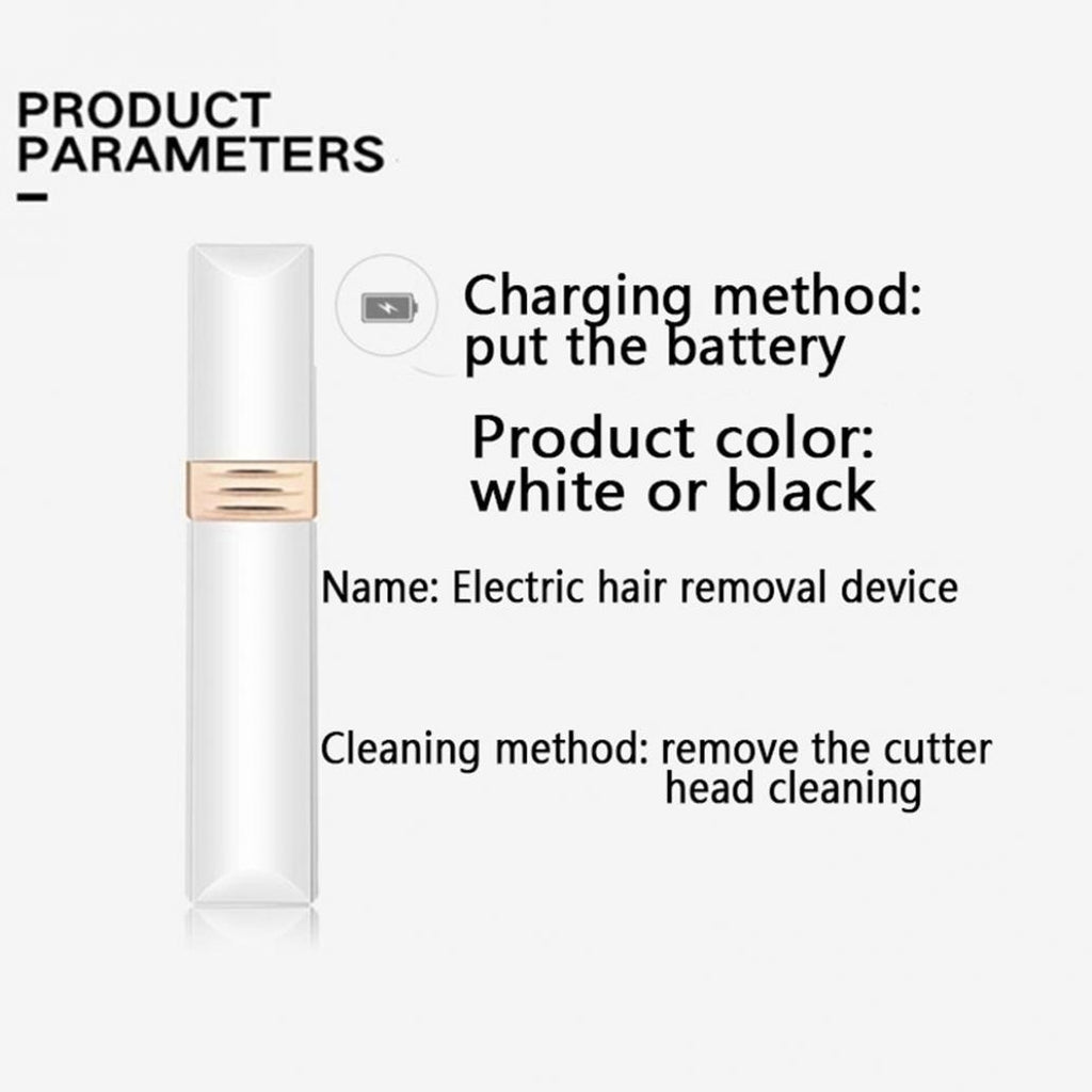 Electric Hair Remover Device For Women Mini Lipstick Shaving Hair Removal Facial Hair Shaving Beauty Equipment