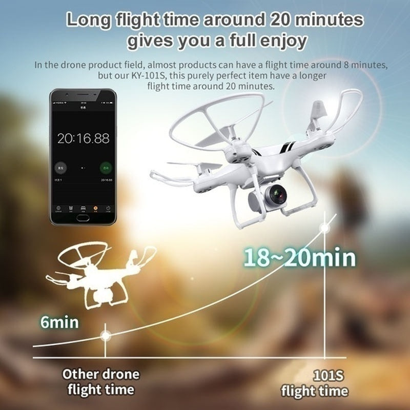 Upgrade Ver 2.0 Clone DJI !!! phantom 4 Pro!! 40 Mins Flight time HD Camera RC Drone Wifi FPV HD Adjustable Camera Altitude Hold One Key Return/Take Off RC Quadcopter Drone