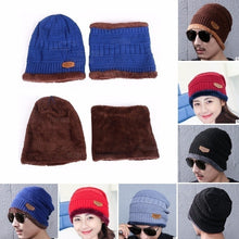 Load image into Gallery viewer, Hot Sale Women Men Hat Scarf Baggy Skullies Knitted Scarf  Warm Bonnet Mask Beanies