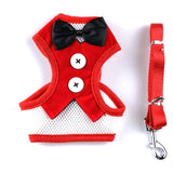 Dog Leash Small Dog Teddy Vest-style Bow Evening Dress Chest Strap Breathable Dog Traction Rope
