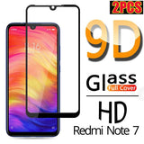 2PCS 9D Full Cover Explosion Proof Tempered Glass Screen Protector For Xiaomi Redmi Note 4X 4A 5 6 6A Note 7 7Pro Xiaomi 6 8 9 9SE