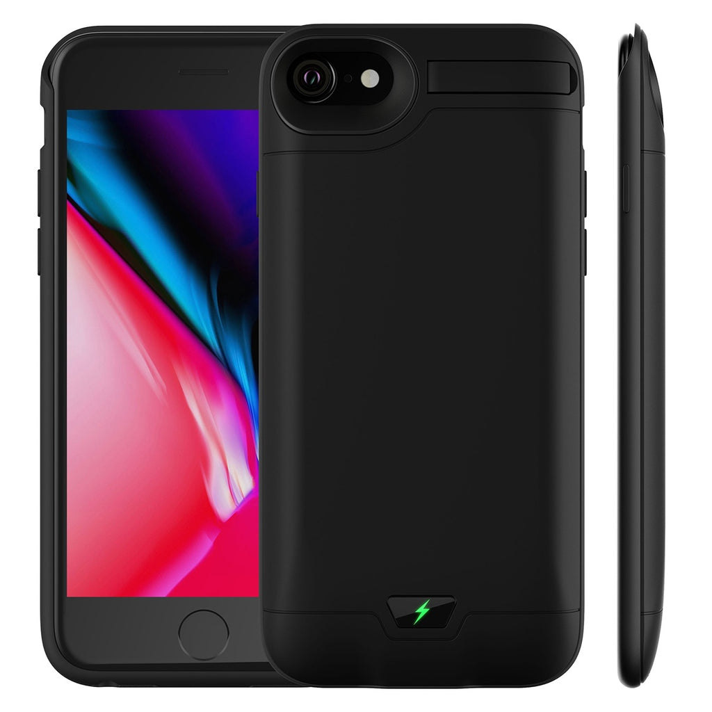 Slim Portable High-capacity External Battery Case (5200mAh/8200mAh) Rechargeable External Charger Case Portable Charging Case with Kickstand for IPhone 6/6s/7/8/6 P/7 P/8 P