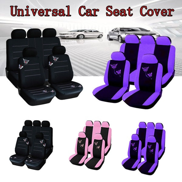 New 4PCS/9PCS Car Seat Covers Universal Anti-Dust Auto Cushion Protector Couvertures De Si¨¨Ges Pour Voitures Car Interior Accessories Car Accessor