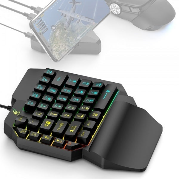 1pc Newest K15 One-handed Gaming Keyboard Mechanical Game Keyboard For PUBG Gamers