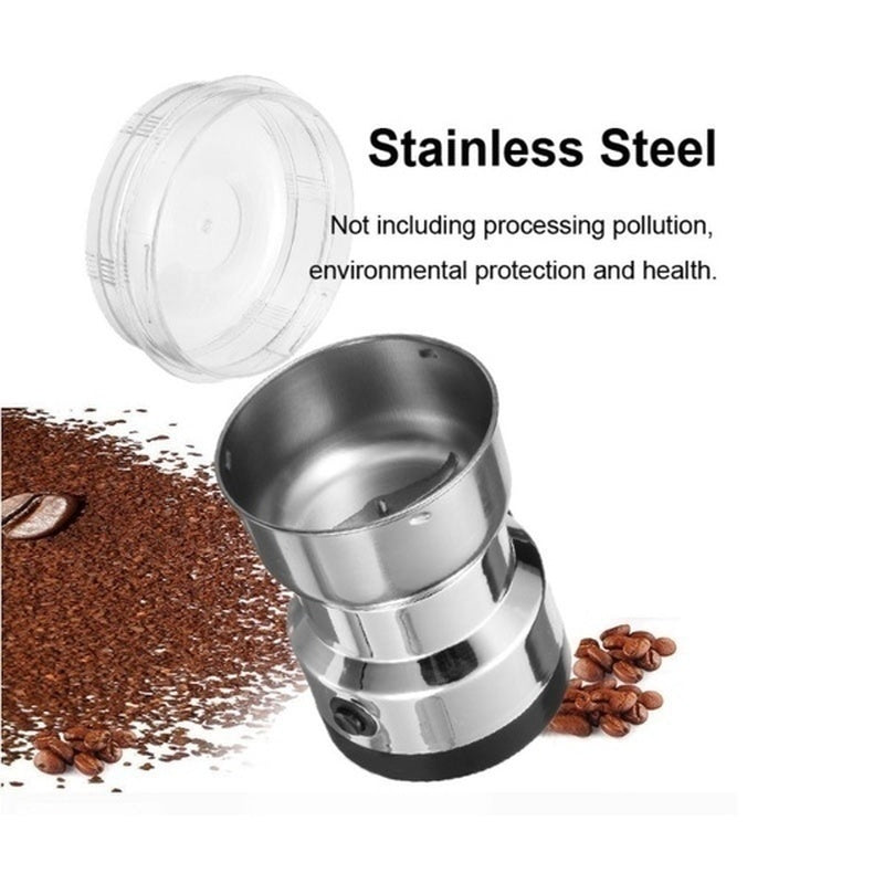 Electric Stainless Steel Coffee Bean Grinder Home Grinding Milling Machine Coffee Kitchen Accessories