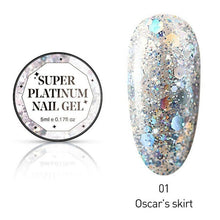 Load image into Gallery viewer, 1 Pc Nail Art 5ml Shining Super Platinum Paint Gel Lacquer Soak Off Glitter UV LED Gel Nail Polish