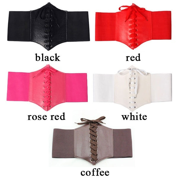 Women Lady Elastic Belt Wide Tight Corset Waist Band High Waist Slimming Body Sculpting Belt