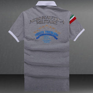 Embroidery Aeronautica Militare T-shirts Men's Polo T-Shirts Summer Brand Cotton Air Force One