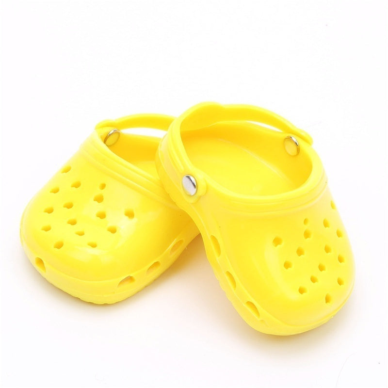 1 Pair 7cm Doll Cave Cave Sandals Shoes Fits 18 Inch Doll 43CM Doll Shoes for Girl Doll Accessories Gift