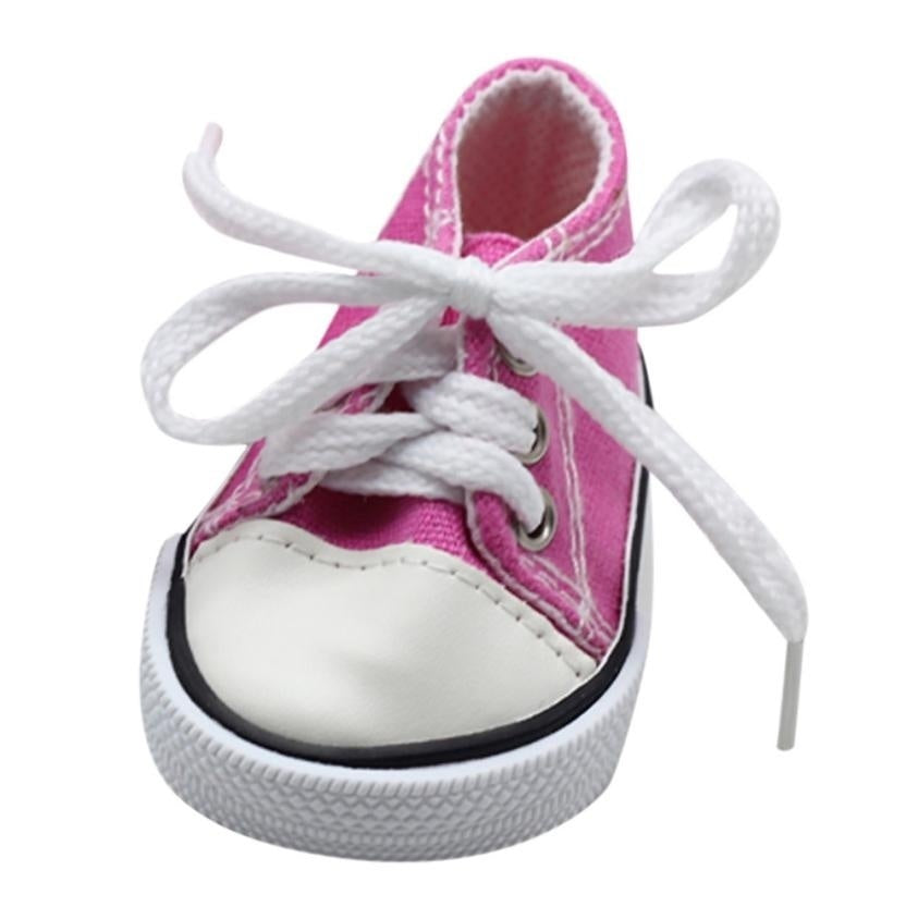 Canvas Lace Up Sneakers Shoes for 18 Inch Funny Girl & Boy Dolls for Girls Clothes