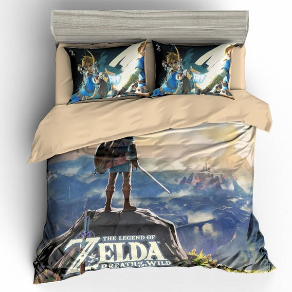 Home textiles Digital printing 3D Rose Zelda  game  boy gife Printed 3D Bedding Sets Twin Full Queen King Size Duvet Cover Set With Pillowcase 3PCS