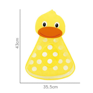 1PCS Little Duck Little Frog Shape Storage Bag Baby Shower Bath Toys Storage Mesh with Strong Suction Cups Net Bag Organizer