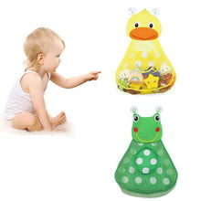 Load image into Gallery viewer, 1PCS Little Duck Little Frog Shape Storage Bag Baby Shower Bath Toys Storage Mesh with Strong Suction Cups Net Bag Organizer