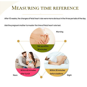 Promotion Ultrasound Fetal Doppler Baby Heart Rate Moitor LCD Display Fetal Doppler Baby Heart Monitor, 3Mhz Probe Gifts for Mother's Day