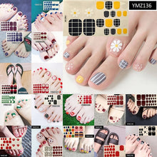 Load image into Gallery viewer, 1PC(including 22 Small Stickers)  DIY Colorful Series Toenail Manicure Stickers Waterproof Non-toxic Nail Patch Nail Decal Sticker Environmental Nail Wraps