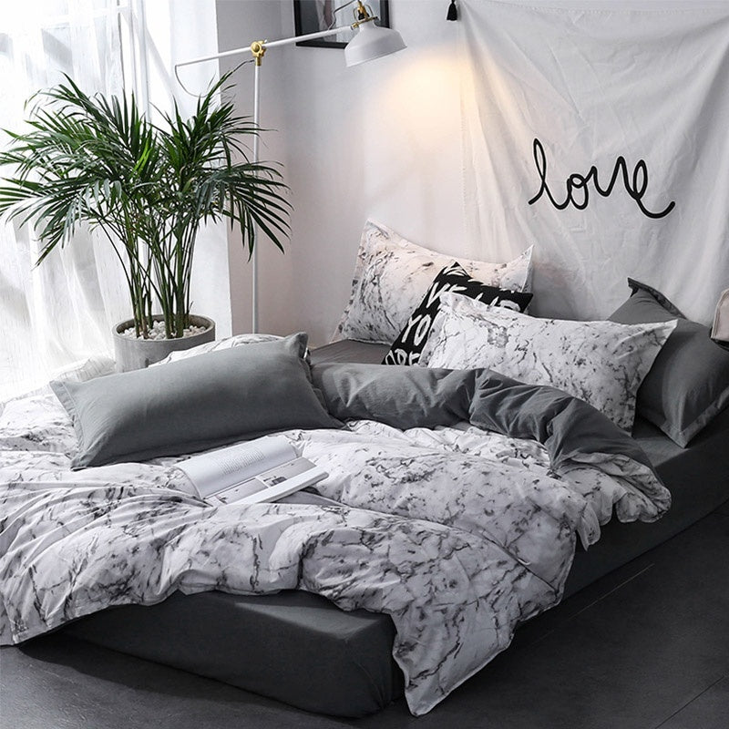 10 Sizes Microfiber Comfortable Duvet Cover & Pillowcases Set with Zipper Closure Single Twin Double Full Queen King Sizes Comforter Cover Set With